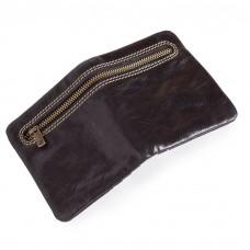 Zipper Wallet for Men Black Leather