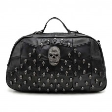 Skull Studded Handbag Black