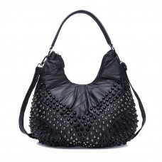 Cute Studded Shoulder Leather Bag