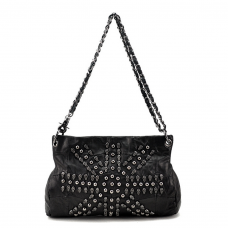 Black Skull Studded Bag