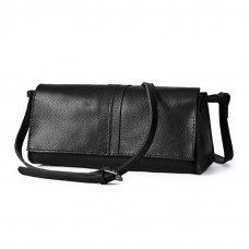 Shoulder Leather Bag Black