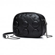 Cute Oval Shoulder Bag Black