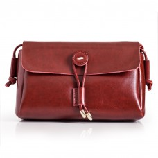 Ladies Red Leather Shoulder Bag