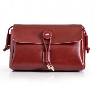 Ladies Red Leather Shoulder Bag
