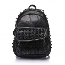 Spiked Backpack Punk Chic Black Leather