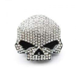 Skull Buckle Rhinestones Rock Style
