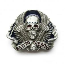 Skull Belt Buckle Bad To The Bone
