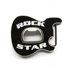 Guitar Belt Buckle Rock Star