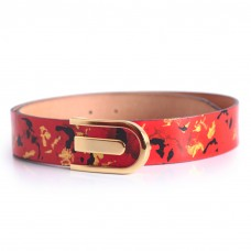 Red and Gold Womens Belt