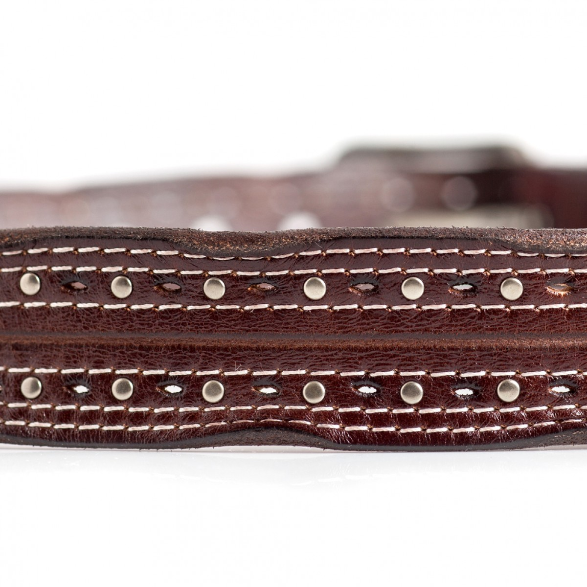 mens vintage leather belt brown laticci