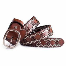 Womens Vintage Belt Brown