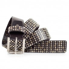 Womens Black Studded Belt