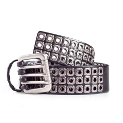 Mens Leather Biker Belt
