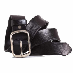 Mens Black Leather Belt