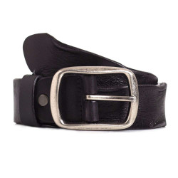 Black Italian Full Grain Calfskin Leather Everyday Belt