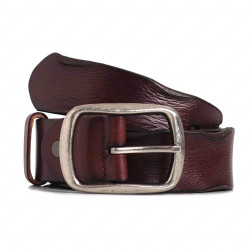 Mens Brown Leather Sports Belt 1.5in Width
