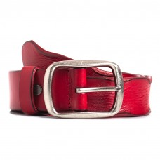 Womens Red Leather Casual Belt Sizes 28-42in