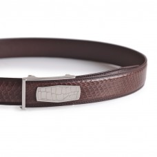 Snakeskin Dress Belt Brown