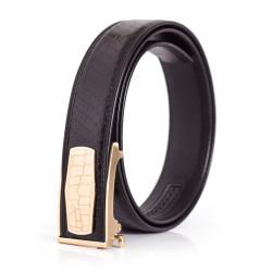 Mens Fashion Belt Snakeskin Black Sizes 28-44in