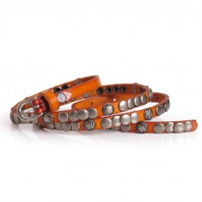 Ladies Skinny Belt with Conchos