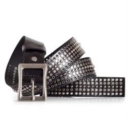 Rockstar Studded Black Belt Italian Calfskin Leather Sizes 30-44in 1.2in Width