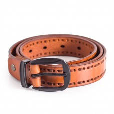 Casual Cognac Leather Belt Ladies Sizes 28-40in