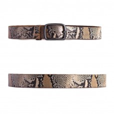 Distressed Snake Print Belt