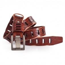 Mens Terndy Jeans Belt Oversized Buckle Italian Leather 1.5in Width Sizes 30-44in
