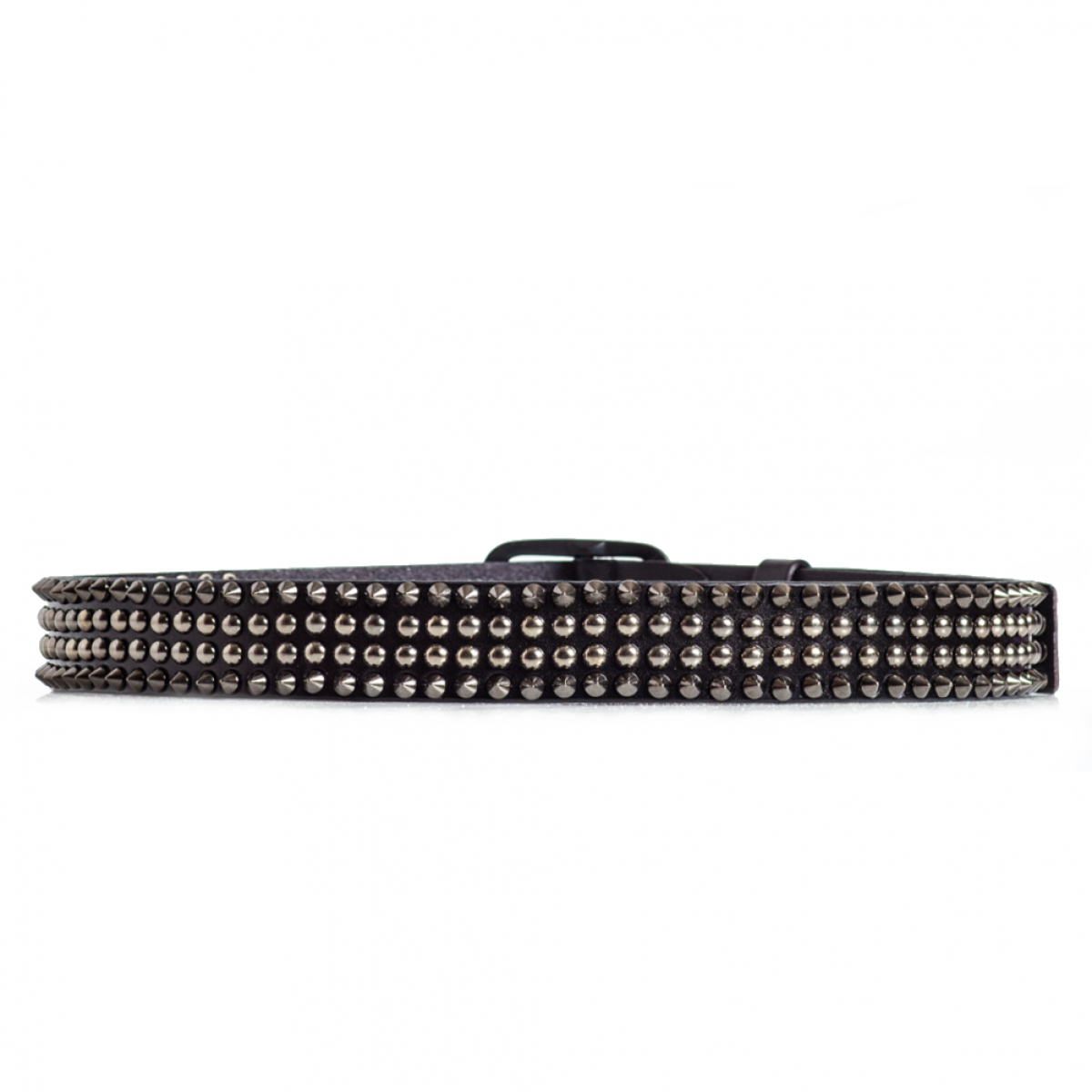 Spiked Leather Belt Black Sizes 30 44in Laticci