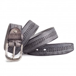 Grey Leather Belt Mens Sizes 30-44in