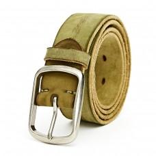 Olive Green Leather Belt