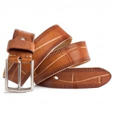 Leather Jeans Belt Full Grain Leather Cognac Mens Sizes 30-44in