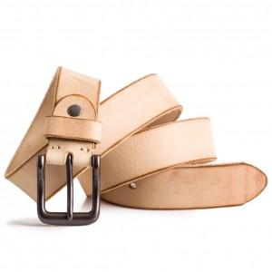 Mens natural leather belt