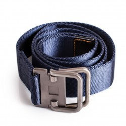 Blue Navy Nylon Casual Belt Mens 43in