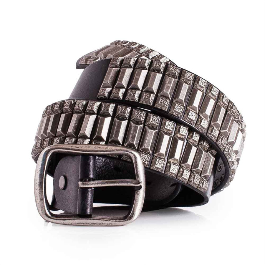 Super Cool Italian Calfskin Leather Studded Belt 1.5in Width Sizes 30-44in