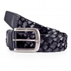 Mens Braid Belt Black
