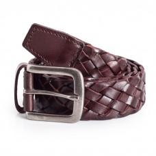 Mens Braid Belt Brown