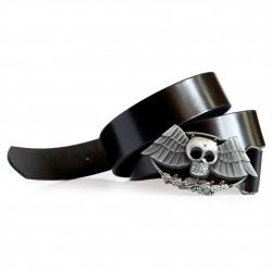 Vampire Skull Buckle Belt