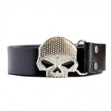 Mens Skull Belt with Rhinestones