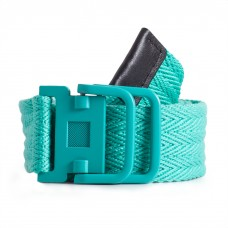 Turquoise Woven Fabric Belt Womens Length 43in