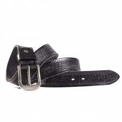 Black Leather Everyday Wear Casual Belt for Men