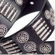 Punk Bullet Leather Belt in Black
