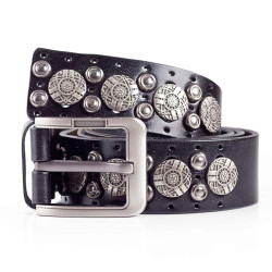 Mens Casual Cool Studded Belt 1.5in Width