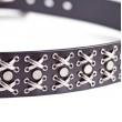 Mens Rock Studded Belt Black Leather Casual Wear 1.5in Width