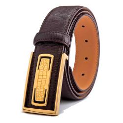 Mens Black Dress Belt Pebbled Texture 1.5in