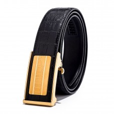 Mens Croco Business Ratchet Belt Black