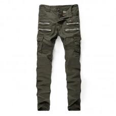 Green Biker Jeans