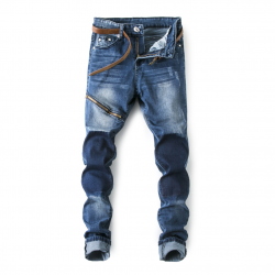 Two Color Skinny Jeans Mens
