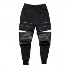 Stylish Biker Joggers Black