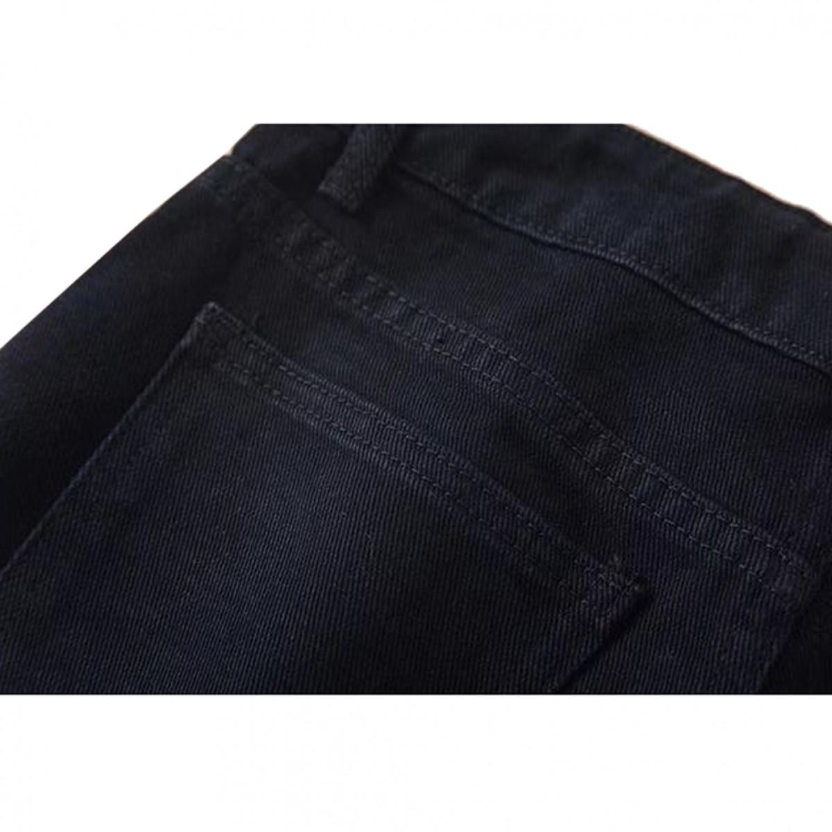 Womens Distressed Black Denim Shorts   LATICCI
